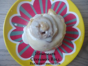 Homemade Cinnamon Roll with brown sugar and cinnamon filling