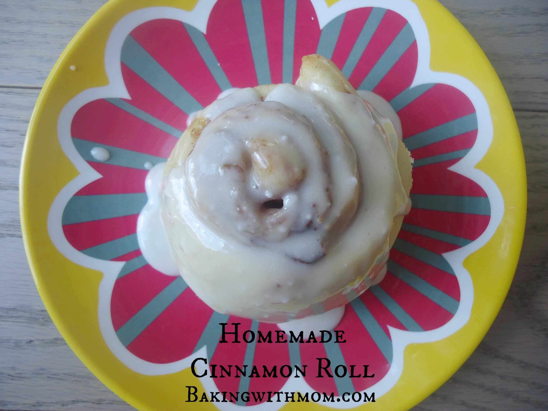 Homemade Cinnamon Roll with brown sugar and cinnamon filling