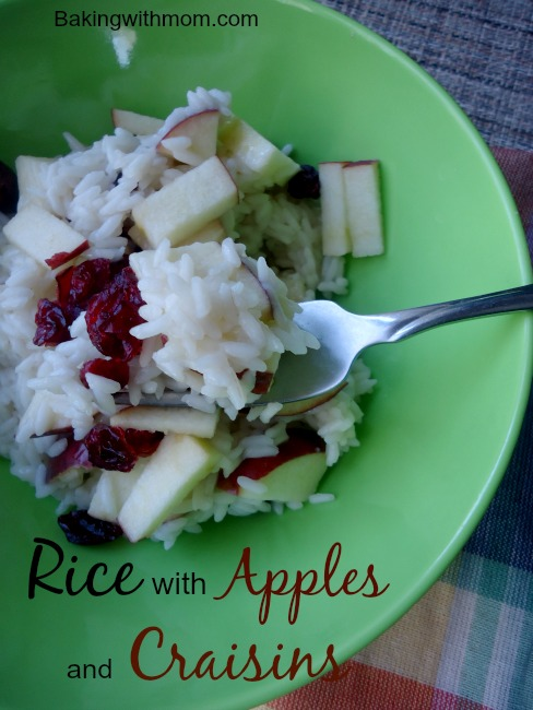 Rice with apples and craisins