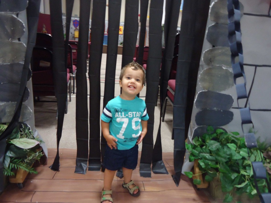 Caleb at VBS