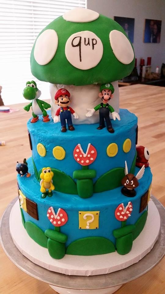 Super Mario Bros Birthday Cake Ideas
