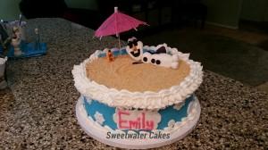 How To Make An Olaf Cake