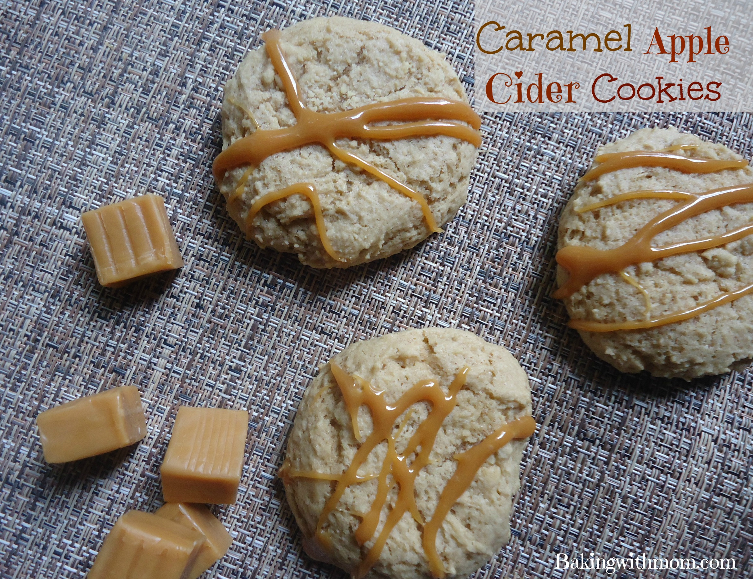 caramel apple cider cookies