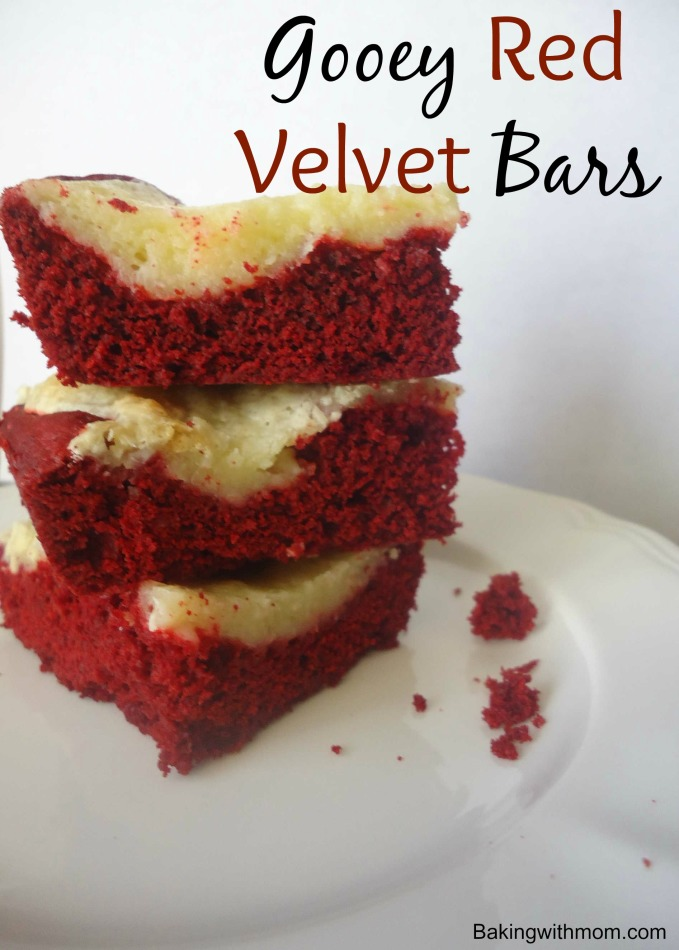 Gooey Red Velvet Bars