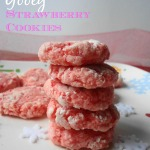 Gooey strawberry cookies are a delicious and flavorful cookie for the family to enjoy. Start with a cake mix and end with a cookie!