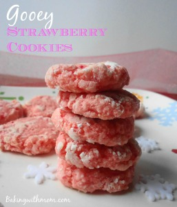 Gooey Strawberry Cookies