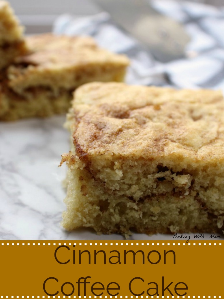 A piece of Cinnamon Coffee Cake with brown sugar