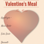 Valentine's Day Menu Printable