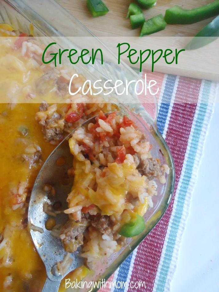 Green Pepper Casserole