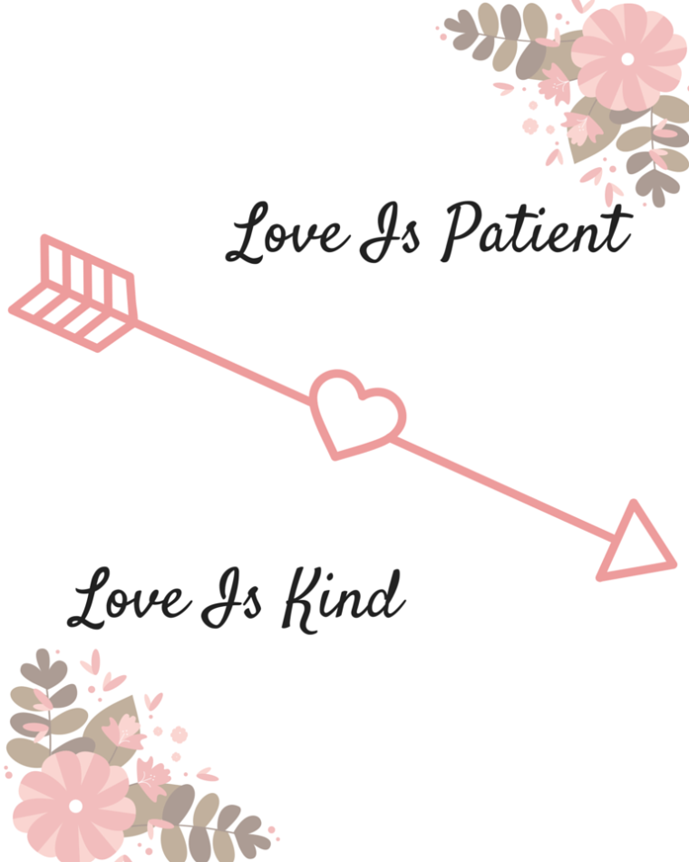 Love is patient free printable