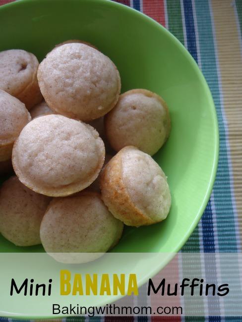cinnamon, banana, mini muffins