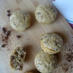 Mocha Muffins with coffee granules and chocolate chips