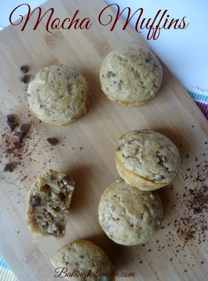 Mocha Muffins made with coffee granules and chocolate chips