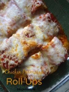 Chicken Parmesan Roll Ups