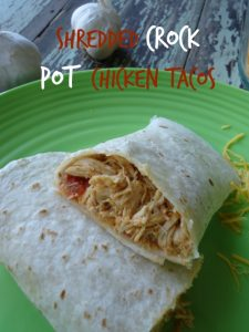 Shredded Crockpot Chicken Tacos easy supper with delicious flavors made in your crockpot