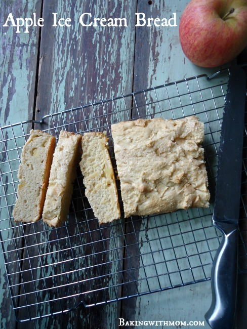 Apple Ice Cream Bread on a cooling rack