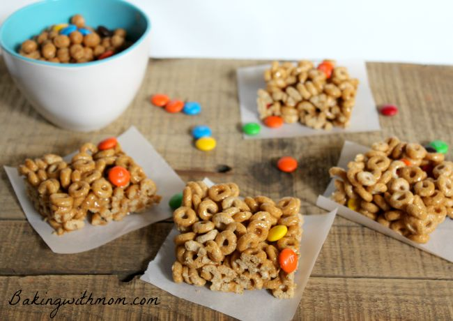 caramel cheerios bars 2