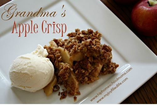 grandma's apple crisp