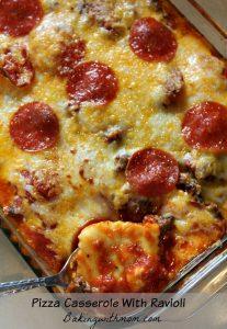 Pizza Casserole With Ravioli is a combination of favorite pizza casserole recipes.