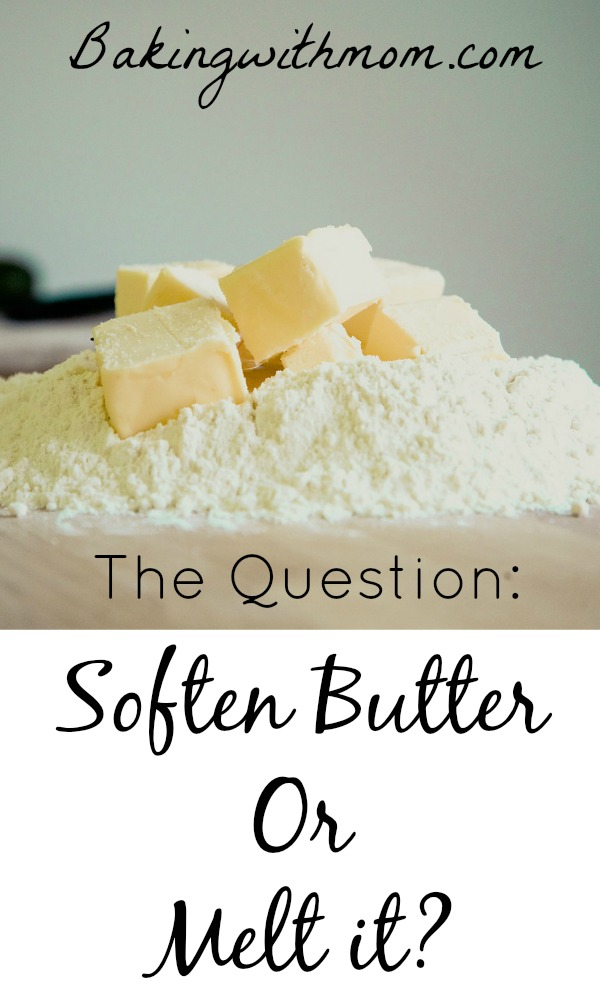 Soften butter or melted butter in baking cookies-the reason why