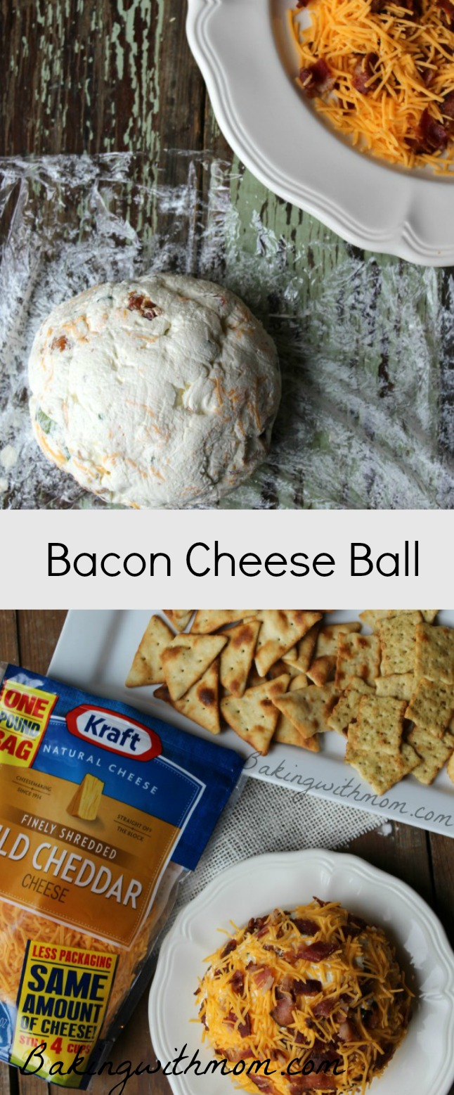 Bacon Cheese Ball recipe with cheddar cheese and bacon