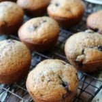 Blueberry Muffins made of brown sugar and sweet blueberries