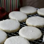 White Velvet Cookies with cream cheese and creamy white frosting