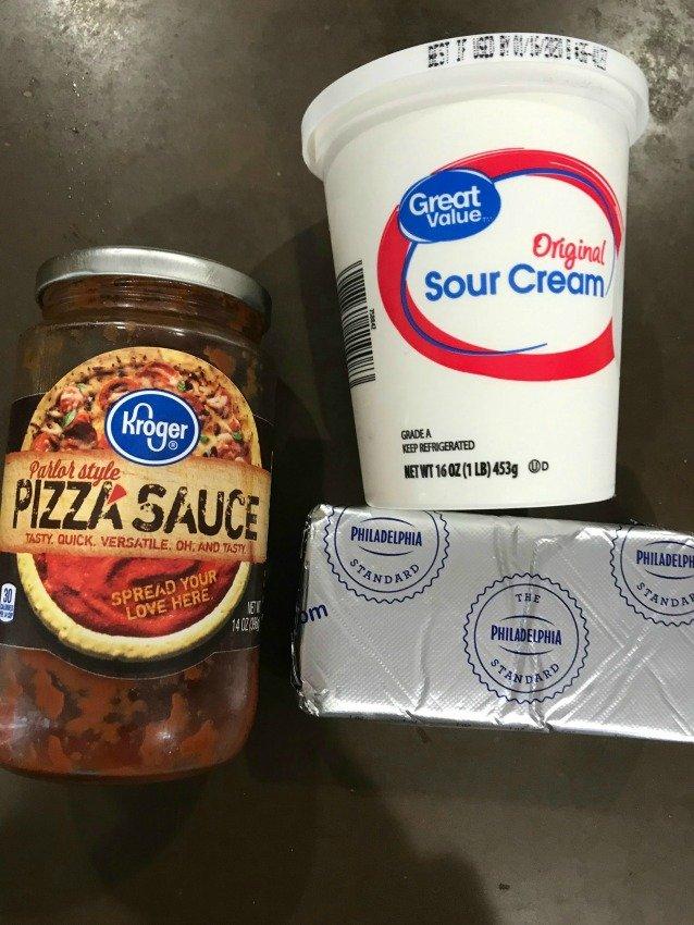 Pizza dip ingredients