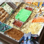 Game Day Snack Stadium is a fun way to display food on game days! #GameDayGlory #Ad