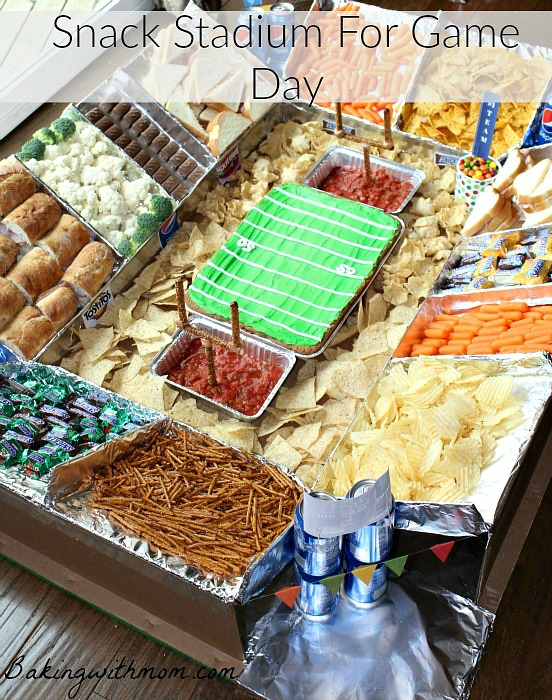 #GameDayGlory #ad Game Day Snack Stadium is a fun way to make game day extra special. Fun treats and great football them!