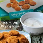 Yogurt Herb Dipping Sauce #ad #FarmRich a great tasting dipping sauce to compliment crispy dill pickles