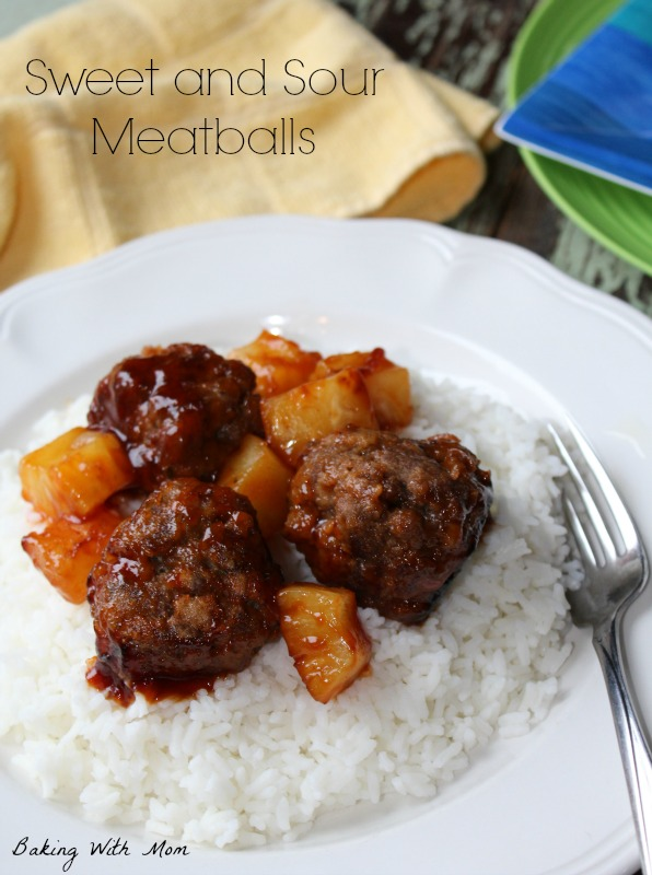 Sweet and Sour Meatballs is an easy supper for busy families. It's on the table in less than 30 minutes. #ChineseNYEats #ad