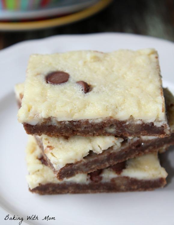 mint chocolate chip cheesecake bars