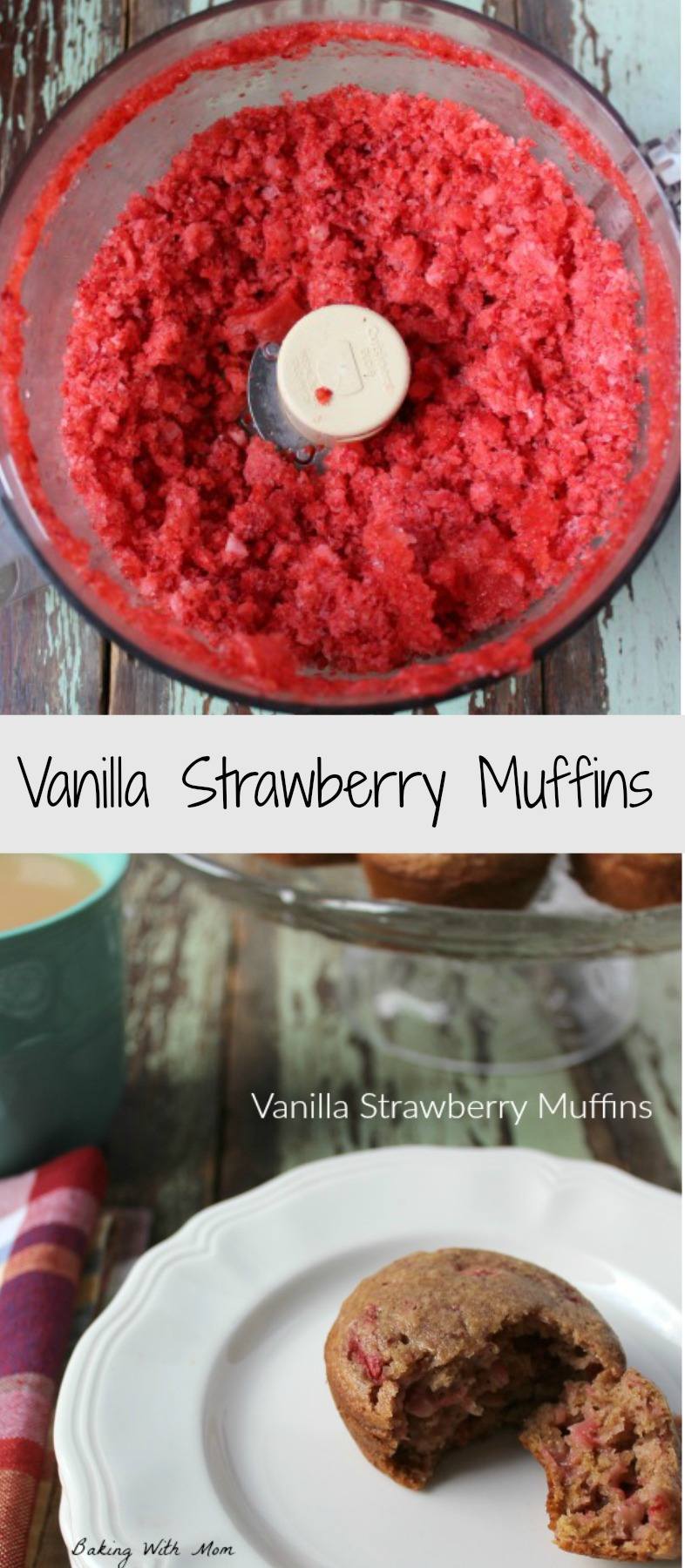 Vanilla Strawberry Muffins #ad #IDSimplyPure moist muffins with a lot of flavor