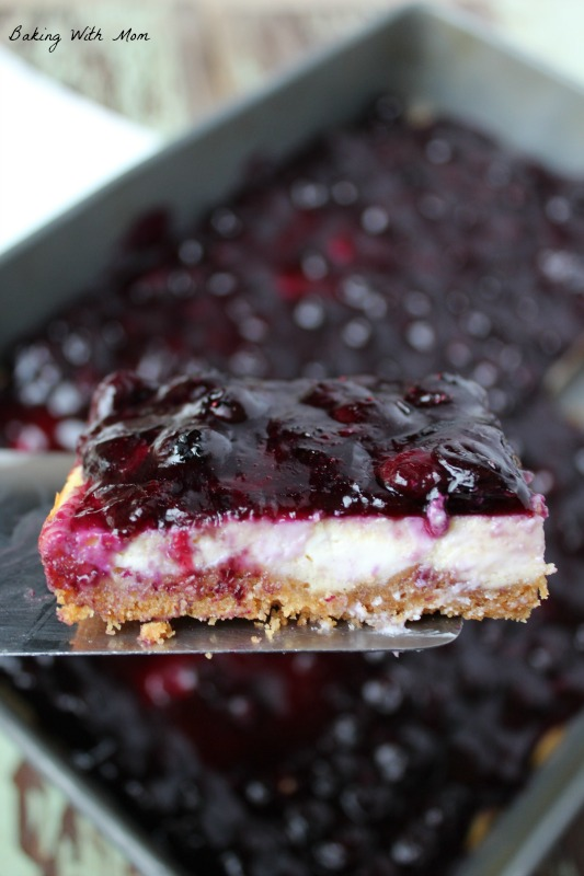Easy Blueberry Cheesecake Bars a summertime dessert the family will enjoy the sweet flavors and graham cracker crust