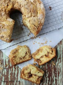 Cinnamon Streusel Coffee Cake a breakfast or brunch recipe with cinnamon and brown sugar