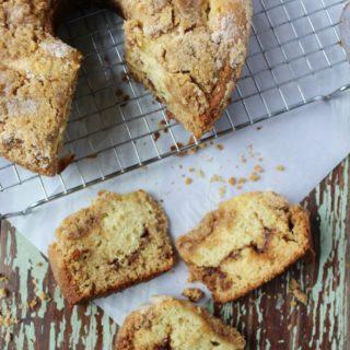 Cinnamon Streusel Coffee Cake a breakfast or brunch recipe with cinnamon and brown sugar