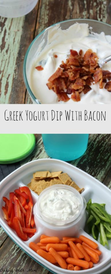 Greek Yogurt Dip With Bacon #ad #ColorYourSummer a blend of flavors make up this recipe great for parties. Made with bacon and Greek Yogurt