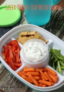 Greek Yogurt Dip With Bacon #ad #ColorYourSummer Easy to make dip for the summer parties and gatherings. Delicious can be made ahead of time!