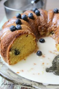 Lemon Blueberry Coffee Cake a breakfast or brunch recipe with lemon flavor, blueberry and a drizzle of frosting