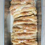 Pull Apart Cream Cheese Bread easy breakfast or snack recipe for your family with cinnamon, cream cheese and frosting on top