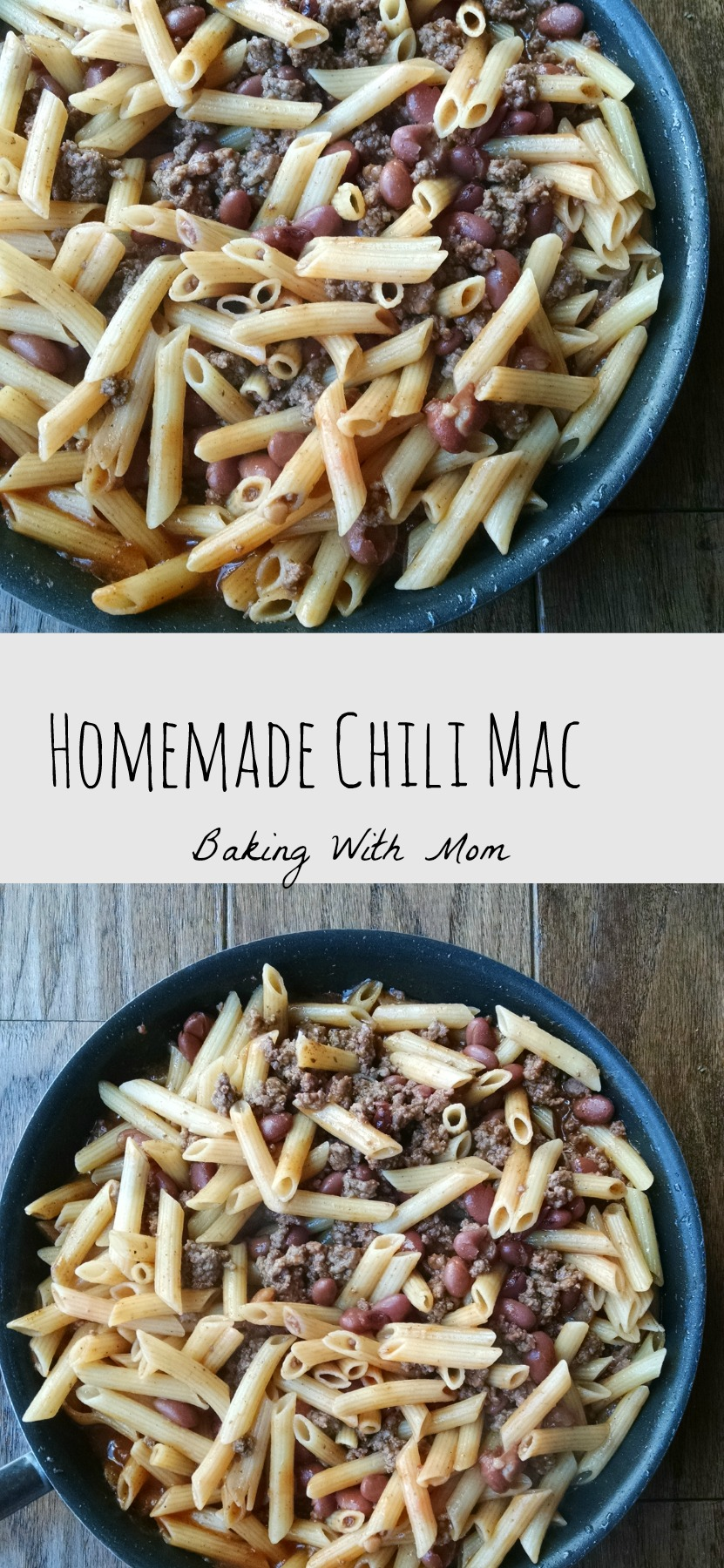 Homemade Chili Mac forget the boxed kind, loaded with hamburger, beans, pasta this 30 minute meal your family will love
