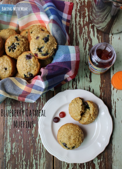 Blueberry Oatmeal Muffins #ad