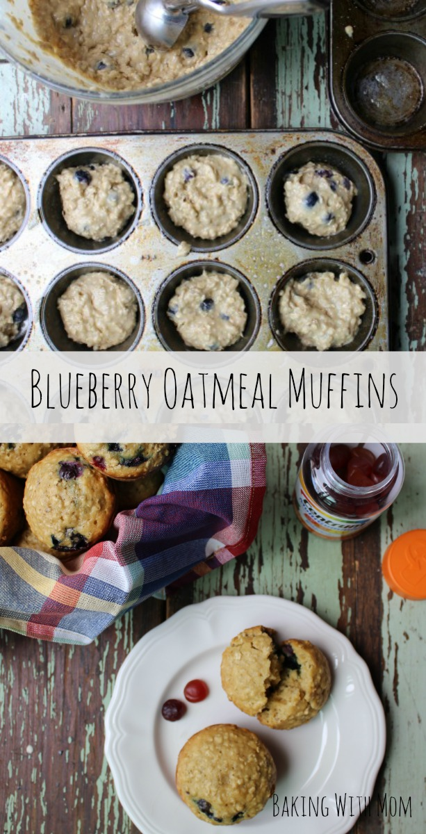 Blueberry Oatmeal Muffins #ad #Healthy4School @Walmart blueberry muffin breakfast recipe to start your morning right