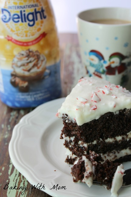 Layered Peppermint Chocolate Cake #ad #DelightfulMoments