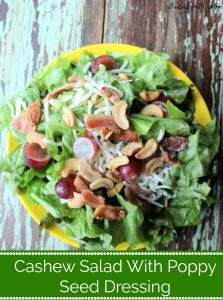 Cashew Salad With Poppy Seed Dressing on a plate