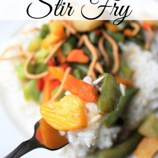 veggie stir fry with rice