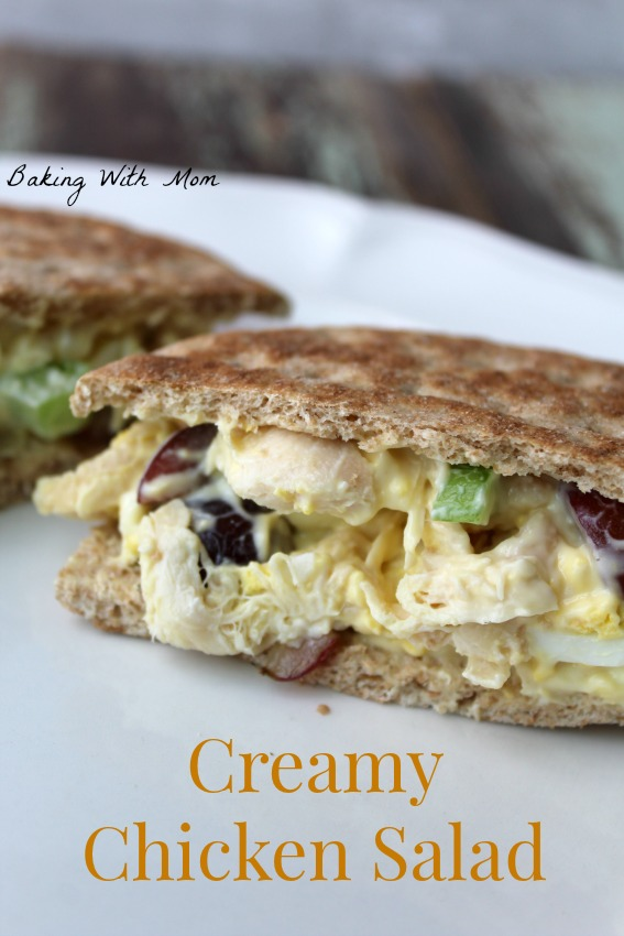 Creamy Chicken Salad grapes, chicken, miracle whip, celery