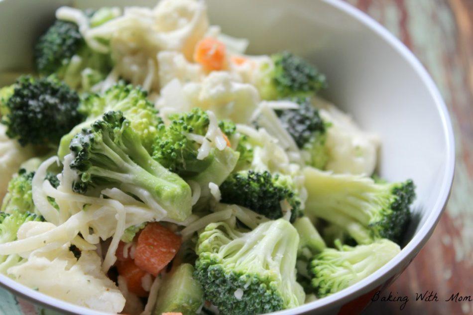 Ranch Broccoli Cauliflower Salad