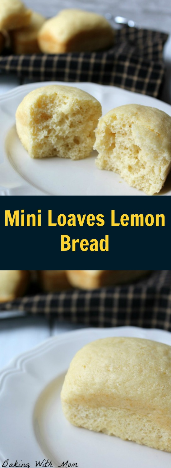 Mini Loaves Lemon Bread with a subtle and delicious lemon bread. Perfect for snacks, lunches or breakfast